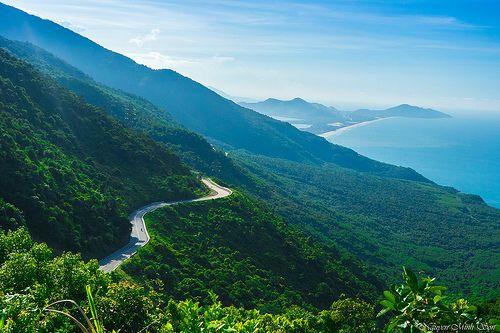 Hai Van Pass, Vietnam. Biking from Hoi An to Hue
