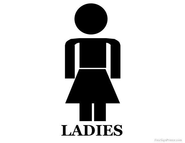 Printable ladies restroom sign party ideas pinterest for Ladies bathroom sign