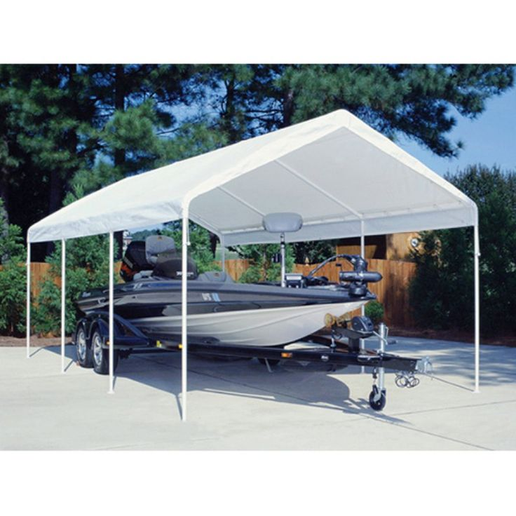King Canopy 12 x 20 ft. Drawsting Carport Cover TDS12206