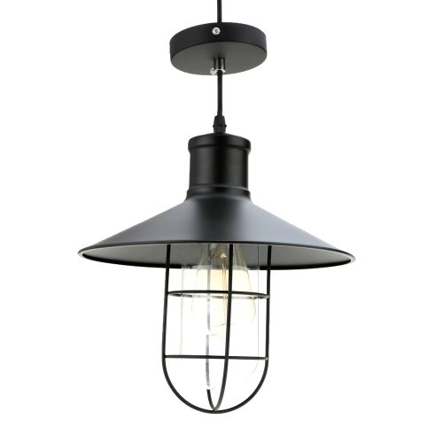LIXADA Classical Vintage Retro Pendant Lamp Light E27 Bulb Loft Antique Bar Cage for Parlor Hotel Warehouse Bedroom with 1.2m Wire