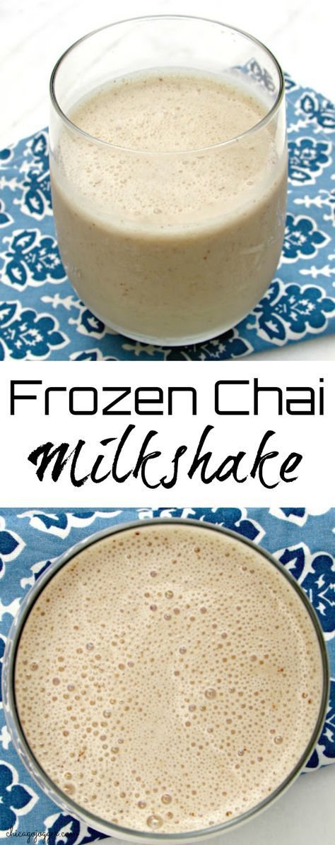 """Frozen Chai Milkshake -  This """"milkshake"""" smoothie includes only a few ingredients and is perfect for breakfast or a healthy snack on a warm day. 
