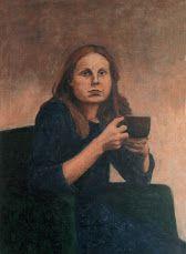Hana Olivová. Lenka. Vax and egg on canvas. 2002