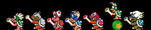 The Koopalings from Super Mario Bros. 3. #gif