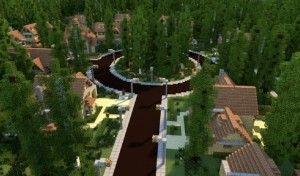 GREENVILLE idyllic village for download Map Schematics minecraft building ideas blueprints 3