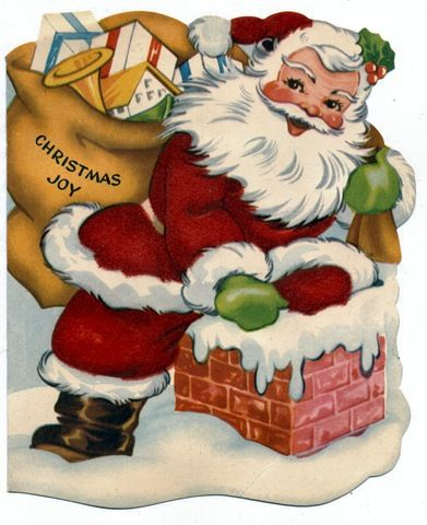 A collection of vintage Santa cards