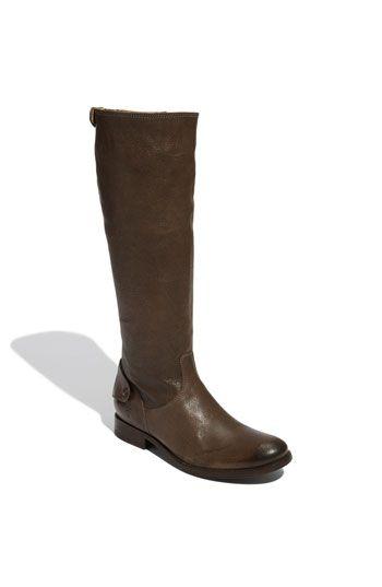 "Frye ""Melissa Button Back Zip"" Boot."