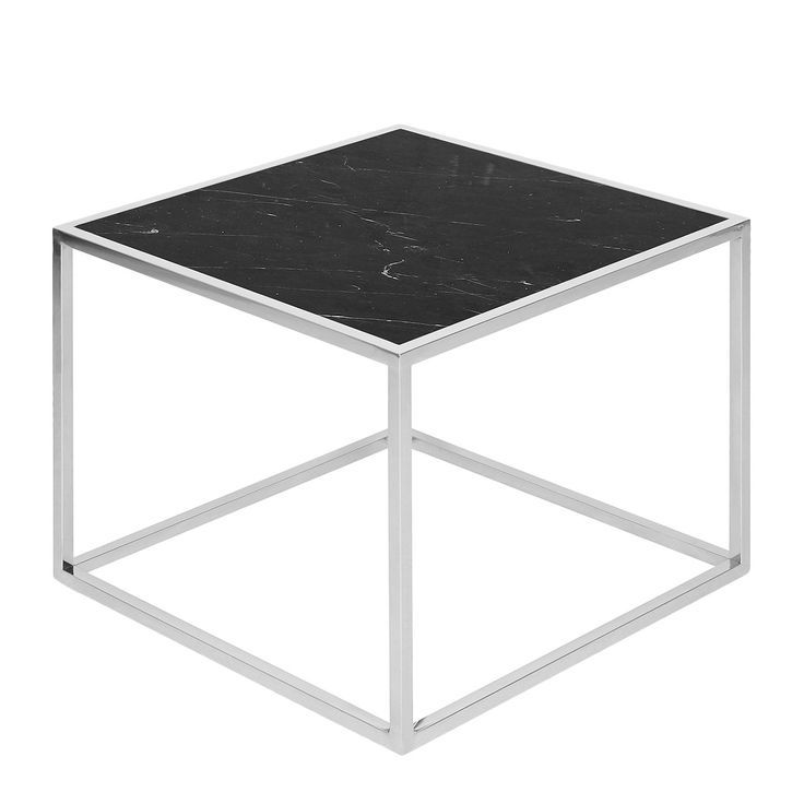 Side Table Jacob Marble Stainless Steel Black Silver Order