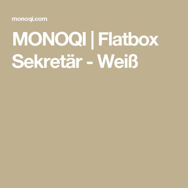 MONOQI | Flatbox Sekretär - Weiß