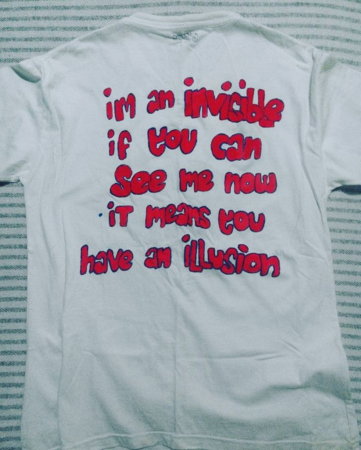 invisible t-shirts #graphic #shirts #onback #DIY