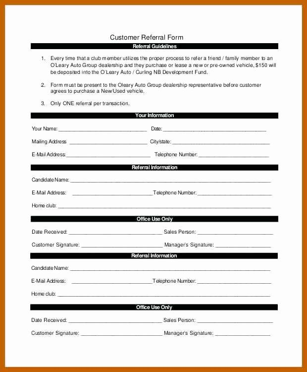 Medical Referral Form Template Inspirational 5 6 Referral Form