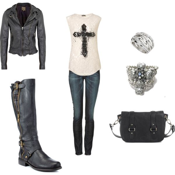 """Biker Shiek"" by loriduckworth on Polyvore"