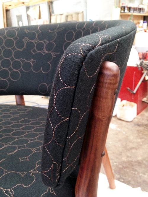 A close up of a Nana Ditzel #83 chair. It's all in the details!