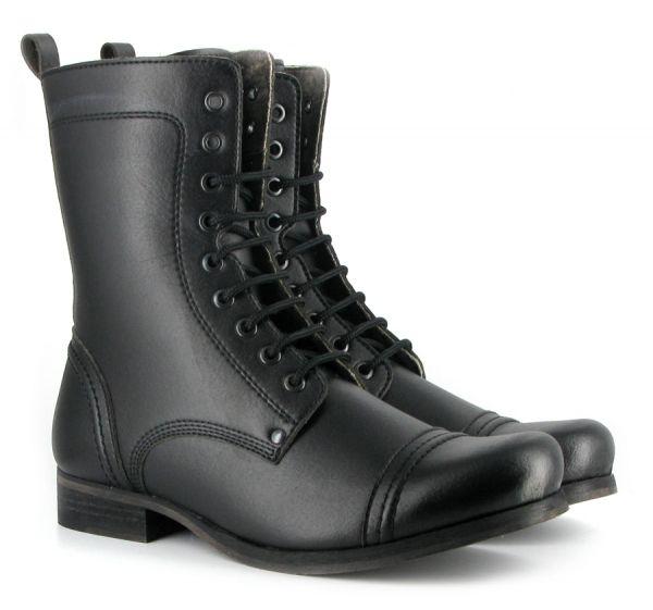 VEGGIE SHOES - Vintage Boot, black, Vegetan Bucky, Gr. 37-46