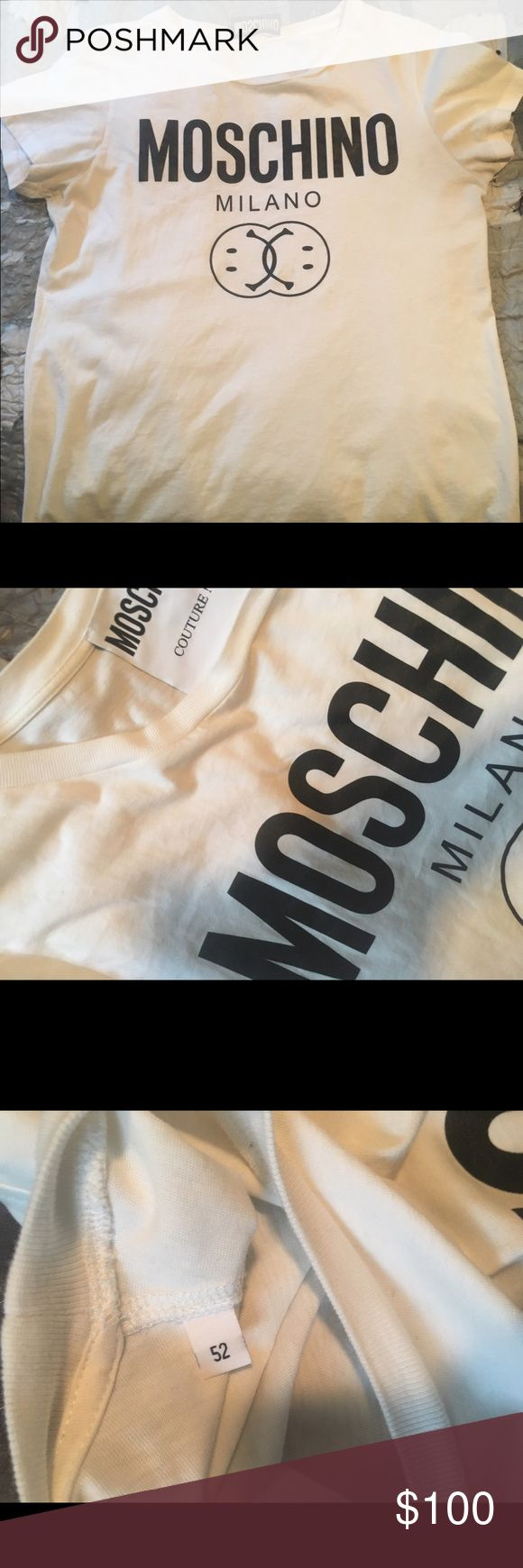 Moschino Milano T shirt Basic Moschino Milano T Shirt..looks classic with any light or dark wash jeans and under a flannel Moschino Shirts Tees - Short Sleeve