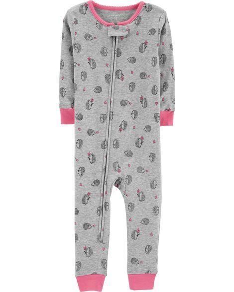 2d51c4ace 1-Piece Hedgehog Snug Fit Cotton Footless PJs