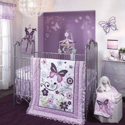 Lambs & Ivy Butterfly Lane 5 Piece Crib Bedding Set & Reviews | Wayfair