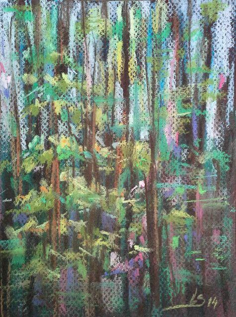Original Pastel Painting: Spring mood