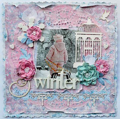 Winter wonderland LO  Scrapbookig  My FAV :*