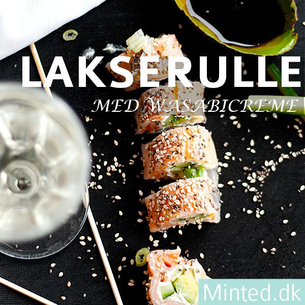LCHF lakserulle med wasabicreme