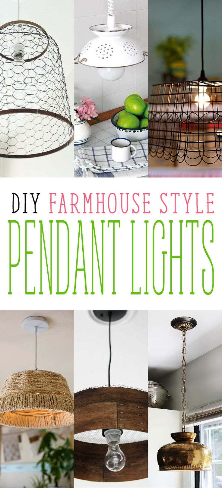 DIY Farmhouse Style Pendant Lights - The Cottage Market