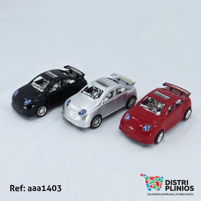 Divertido carro de carreras mediano, de impulso de color rojo, negro y gris, ideal para regalar. Medidas: Alto: 17 cms. Largo: 7 cms. Ancho: 8 cms. Los precios de nuestro sitio web son al por mayor, el costo de los productos se incrementa en compras por unidad, cualquier inquietud comuníquese al 320 3083208 o al 3423674 o visítenos en la Calle 12 B # 8a – 03 Centro, Bogotá, Colombia.