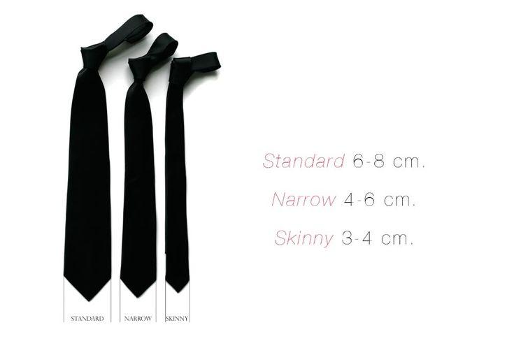 Resultado de imagen para tipos de corbatas delgadas