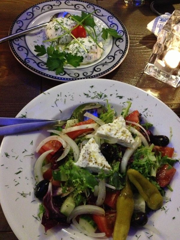 Tzatziki en salade