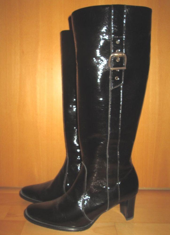 * * * PETER KAISER Lackstiefel schwarz, Gr.5/D 38 * * * | eBay