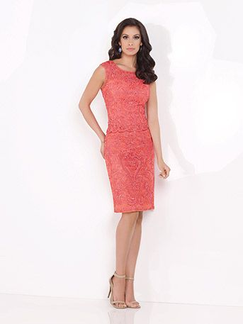 Love This Hand Beaded Coral Ribbon On Tulle 2 Piece Dress For Destination Weddings So Great As A Mother Of The Bride