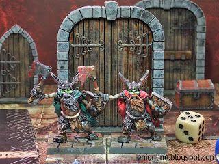 Servi del Male - Dungeon saga painted miniatures ~ Enionline Alternative Worlds #28mm #fantasy #dwarf  #dungeon #saga #boardgame #miniature #painting