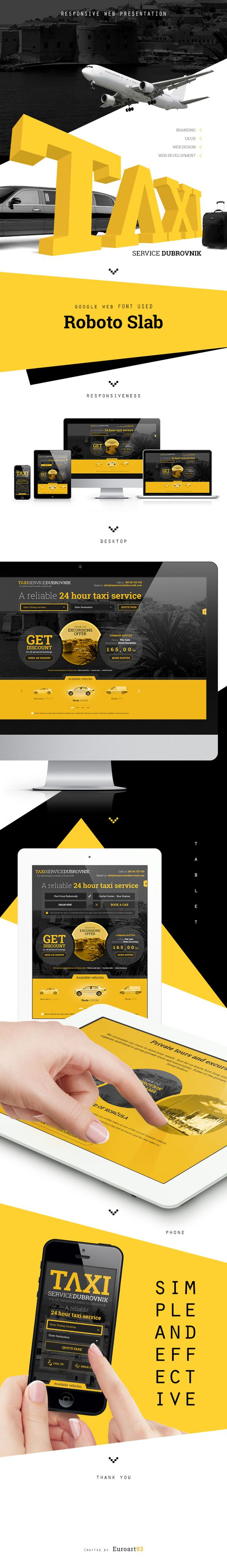 Taxi service Dubrovnik website by Jurica Vukovich