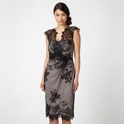 Debut Black mesh lace overlay- at Debenhams.com