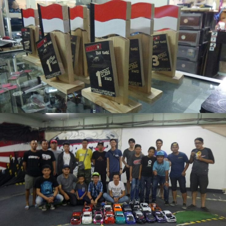 #wood #trophy #custom #design  Hobbystar Fun Race RcDrift Bandung  '16