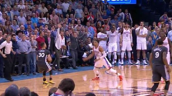 Stephen curry stuns okc with buzzer beater ties record with 12 3