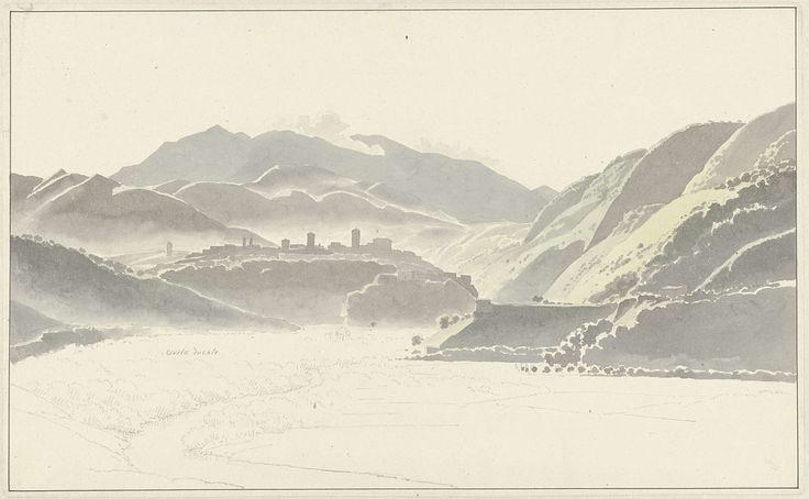 Gezicht op Cittaducale, Josephus Augustus Knip, ca. 1810 - ca. 1812