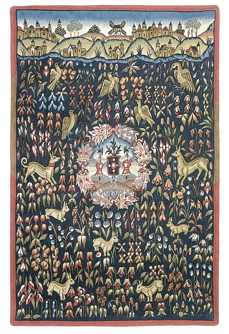 Thousand Emblazoned Flowers Tapestry Medieval Mille