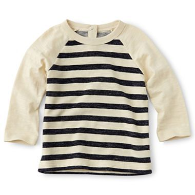 Joe Fresh™ Long-Sleeve Striped Tee - Boys 3m-24m - jcpenney