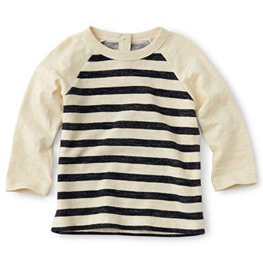 Joe Fresh™ Long-Sleeve Striped Tee - Boys 3m-24m - jcpenney