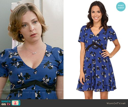 Rebecca Taylor Alyssum Print Dress worn by Rachel Bloom on Crazy Ex-Girlfriend