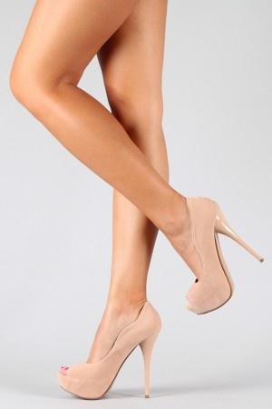 nude peep toe heels
