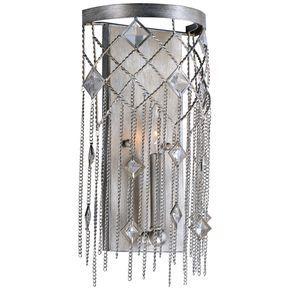 "Maxim Alessandra 15 3/4"" High Silver Mist Wall Sconce - Style # 24C67"