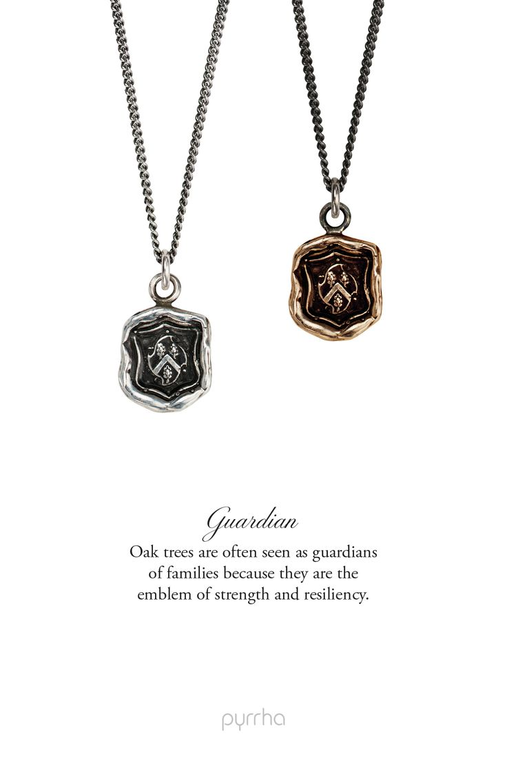 Father's Day gifts: Pyrrha's Guardian Talisman necklace in silver or bronze  http://pyrrha.com/fathers-day