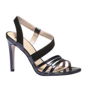 Elegantní černé páskové sandálky