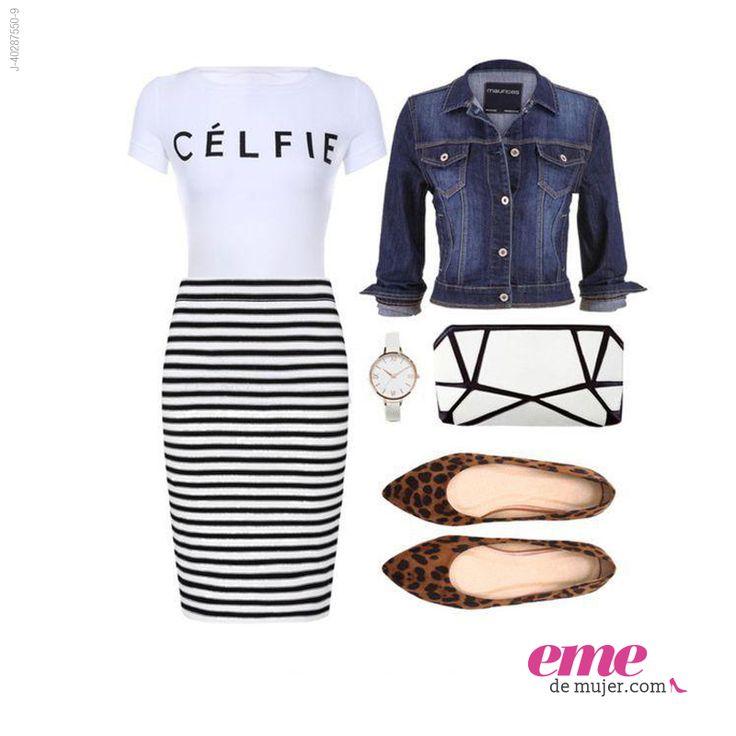 #OutfitEme Arriésgate con combinaciones fuera de lo común al momento de vestirte. Para saber más de moda y ser toda una fashionista entra en nuestra página web http://ve.emedemujer.com/moda/.
