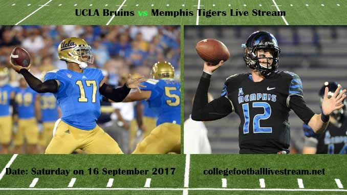 UCLA Bruins vs Memphis Tigers Live Stream Teams: Bruins vs Tigers Time: 12:00 PM ET Week-3 Date: Saturday on 16 September 2017 Location: Liberty Bowl Memorial Stadium, Memphis, TN TV: ESPN NETWORK UCLA Bruins vs Memphis Tigers Live Stream Watch College Football Live Streaming Online The total...