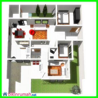 Gambaran Desain Rumah Minimalis 1 Lantai Type 45 Untuk Keluarga Kecil - ://