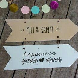 #carteles que le ponen toda la onda! INTHESKY.COM.AR #guirnaldas #decoracion #cıvıl #böda #casamientodelaño #casamiento