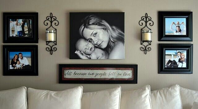 """Maybe for over the bed in the master bedroom or living room. Engagement or wedding pictures in the frames and maybe a """"B"""" in the middle."""