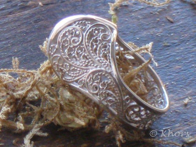 Silver ring filigree