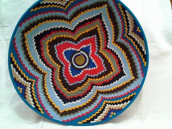 assiette décorative berbère par BlanketThuyaWood sur Etsy